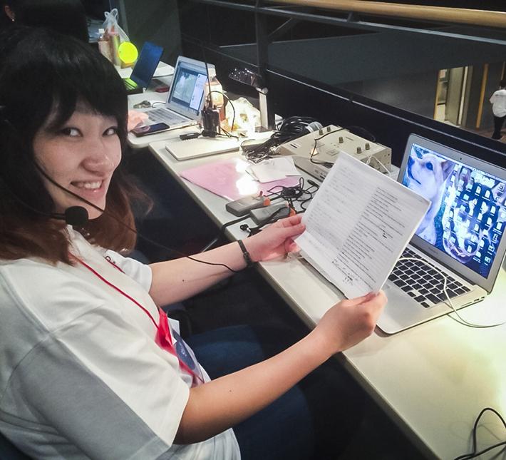チームワークと絆を大切にしながら、TEDxSapporo翻訳チームを率いる石山彩奈さん。写真: 石山彩奈さん提供